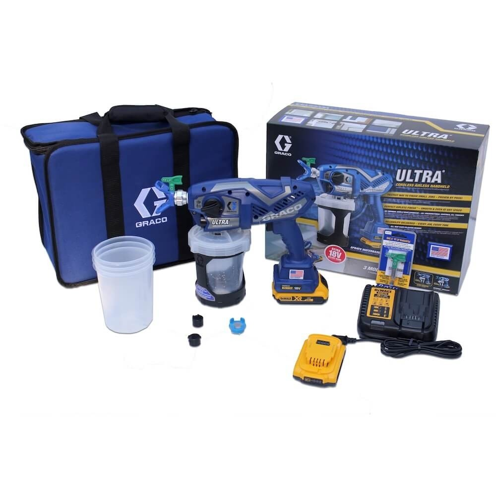 Graco Ultramax Handsprayer mit Akku Set